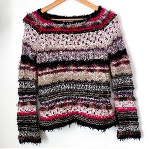 Anthropologie Sleeping On Snow Whimsical Sweater